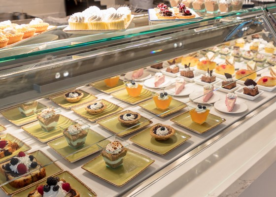 Some of the many desserts at the Foxwoods Rainmaker Buffet