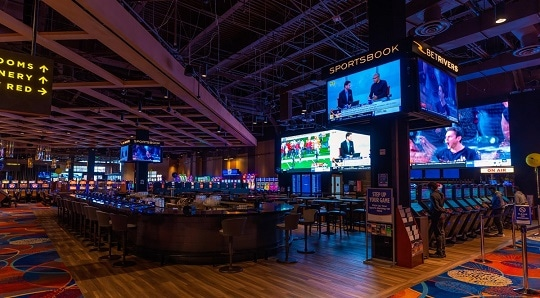 The BetRivers Sportsbook inside the Rivers Casinos Philadelphia