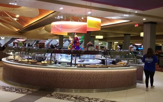 The dessert staton at the Buffet at the Excalibur
