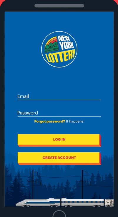 Log into the official NY Lottery App to scan losing draw game tickets, like Mega Millions.