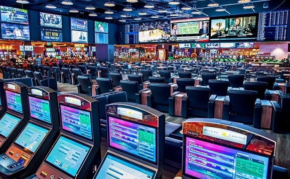 The beautiful sports book at Rivers Casino Pittsburgh