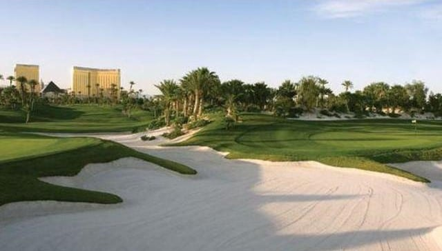 The Bali Hai Golf course is just steps from Manalay Bay