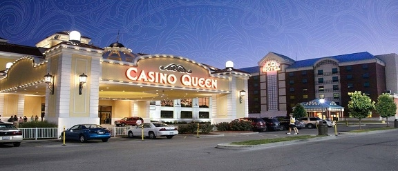 The Casino Queen is located in East St. Louis