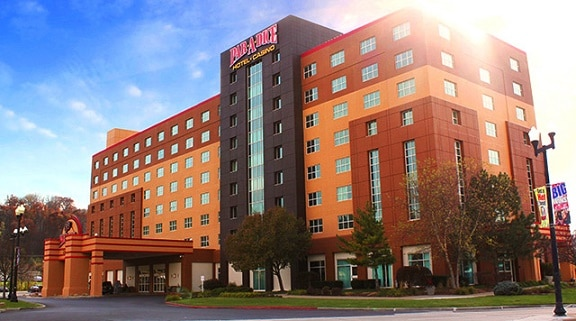 The Par-A-Dice Hotel is across the street from the casino and has a little over 200 rooms.