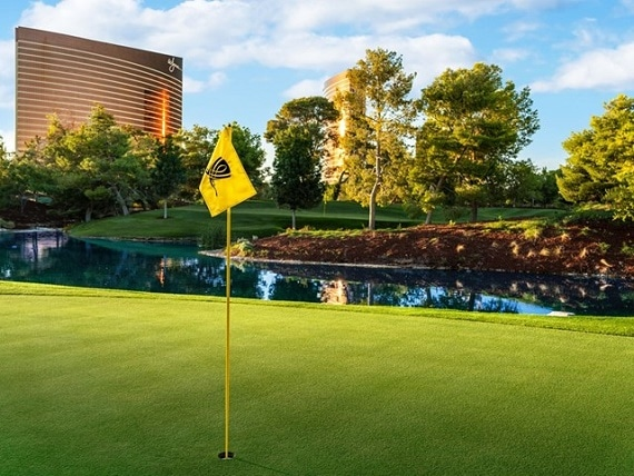The Wynn Golf Club is one of two public courses on the Las Vegas Strip