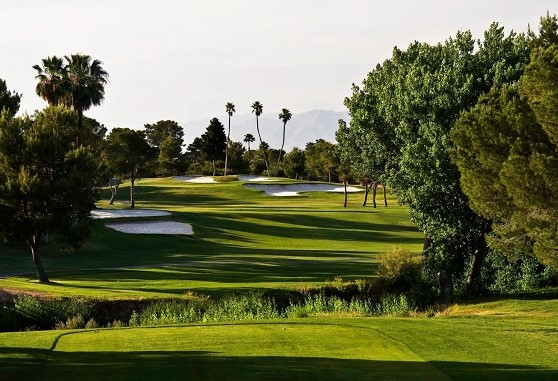 Tiger Woods won his first PGA event on these fairways at the Las Vegas National Golf Club