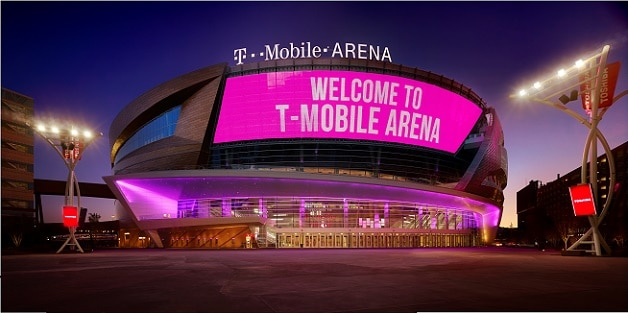 There is a pretty 2 acre plaza in front of T-Mobile Arena