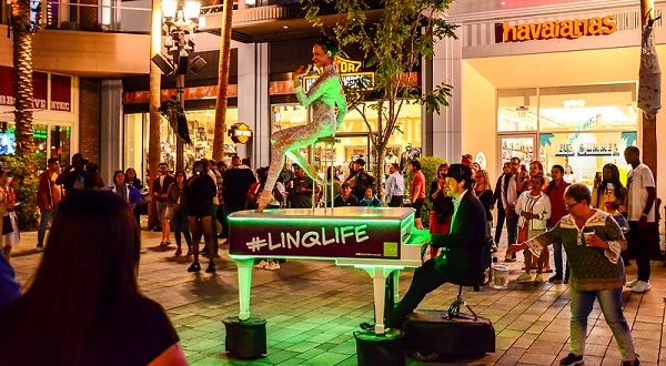 There's always something going on at the Linq Promenade