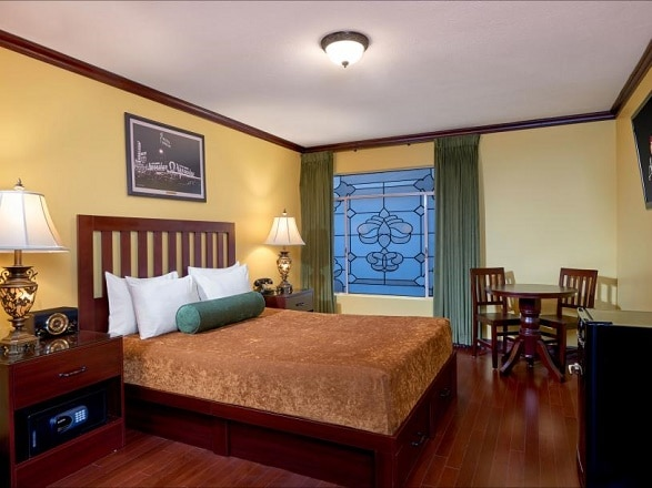 The Apache Hotel at Binion's offers some affordable, but very basic rooms.
