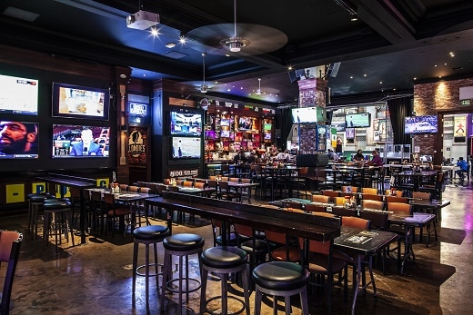 The inside of Blondies Sports Bar & Grill at the Miracle Mile Shops in Las Vegas