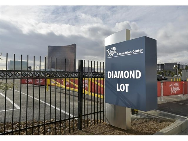 The Diamond Lot is located between the Strip and the Las Vegas Convention Center's West Hall.
