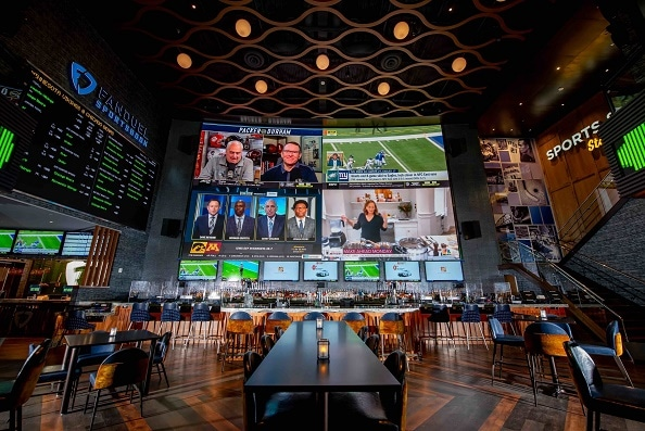 The sports bar at Live! Casino Pittsburg is next to the FanDuel Sportsbook