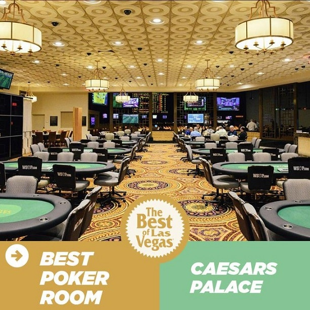"""In it's first year, the Caesars Palace Poker room was voted """"Best Poker Room"""" by readers of the Las Vegas Review-Journal"""