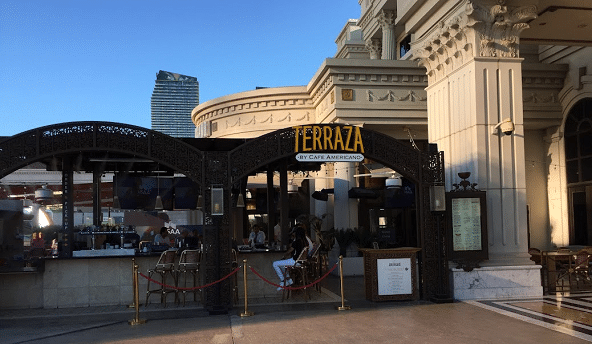 Terraza by Cafe Americano has climate-controlled outdoor seating