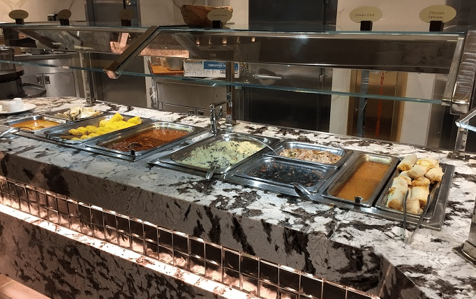 The small Mexican food station at Monarch Casino's buffet.