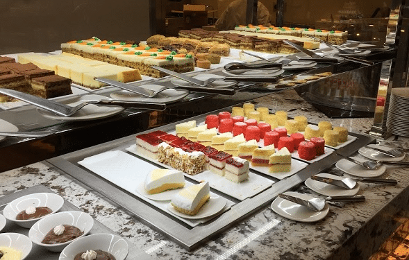 There are plenty of desserts at the Monarch Buffet