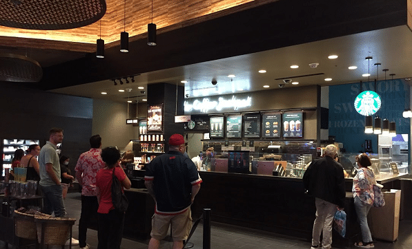 The Starbucks at the Forum Food Hall is one of two Starbucks in Caesars Palace.