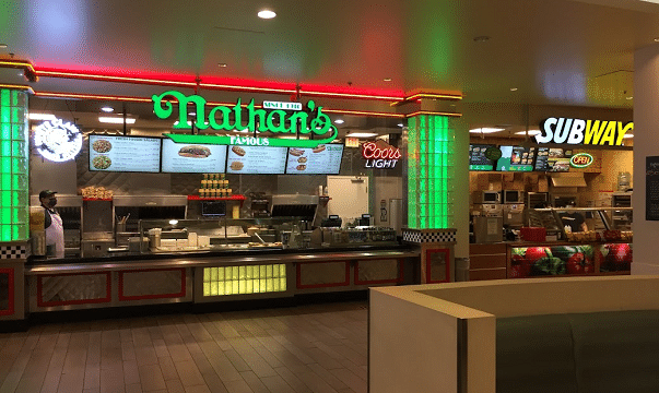 Nathan's Famous Hot Dog at Bally's Food Court in Las Vegas