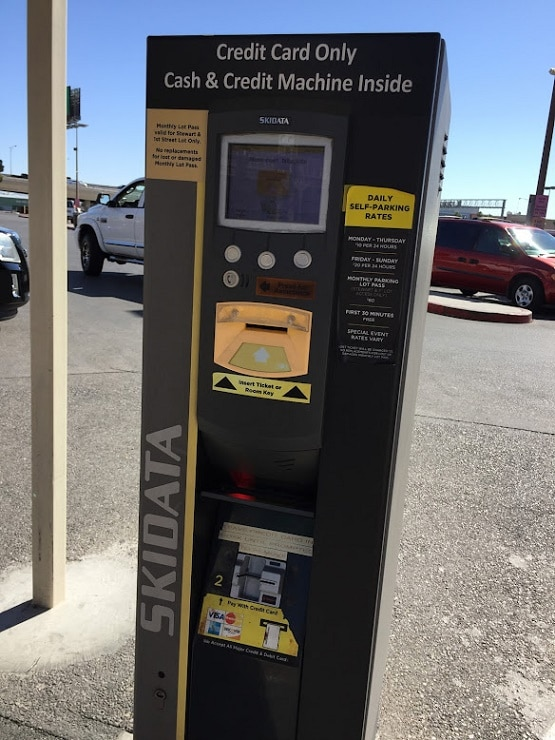 You use these kiosks to pay for self-parking at Main Street Station Casino
